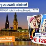 3 Tage Hamburg zu zweit im 4 Sterne Ramada Hotel mit Frühstück für nur 114€