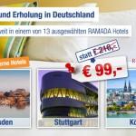 Ramada Hotelgutschein – 2 Übernachtungen zu zweit mit Frühstück für 99€