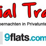 Social-Travel – privat übernachten mit Airbnb, 9Flats und Wimdu