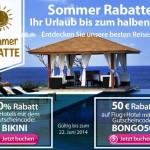 50 Euro Rabatt auf Pauschalreisen und 20% Rabatt auf Hotels weltweit bei ebookers