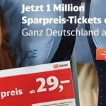1 Million Sparpreis-Tickets ab 19€ bei der deutschen Bahn