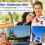 3 Tage Köln zu zweit im 3 Sterne Hotel inkl. Frühstück für 79€