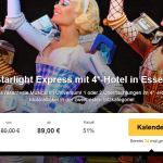Eintrittskarte für Starlight Express mit Übernachtung im 4 Sterne Hotel Mercure Plaza Essen für 89€