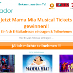 Mama Mia Musical Tickets gewinnen bei travador