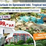 2 Übernachtungen im 4 Sterne Hotel + 1 Eintritt in das Tropical Island für 99€ pro Person
