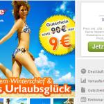 90€ Reisegutschein für weg.de für nur 9€