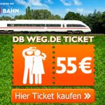 DB Ticket – einfache Fahrt für zwei Personen in ganz Deutschland für 55€