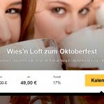 Oktoberfest-Knaller – Übernachtung im Oktoberfest Wies´n Loft mit Maß Bier für 49€